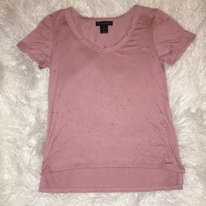 Loose T-Shirt With Wholes